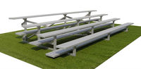 Portable bleachers aluminum/plastic seats outdoor public seating light and easy to move with bucket seat for race track
