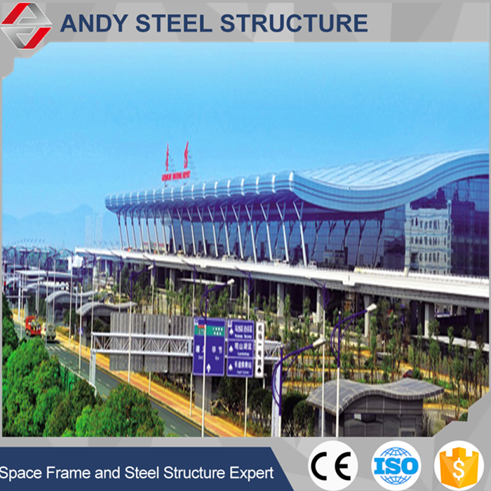 China manufacturer attractive and durable steel structure airport hall