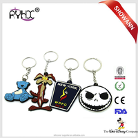 Small and exquisite cat metal key chain promotional gift pvc key chain