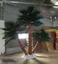 LS16072101 China manufacturer wholesale outdoor large garden decorative fake artificial washingtonia palm tree for decoration