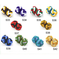 Handmade Silk Knot Cufflink Muticolor Elastic Cufflinks for Shirt