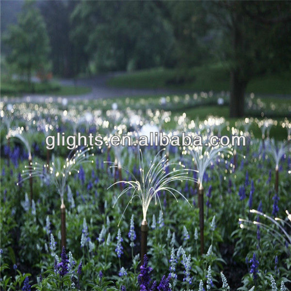 Outdoor decorative branches fiber optic light
