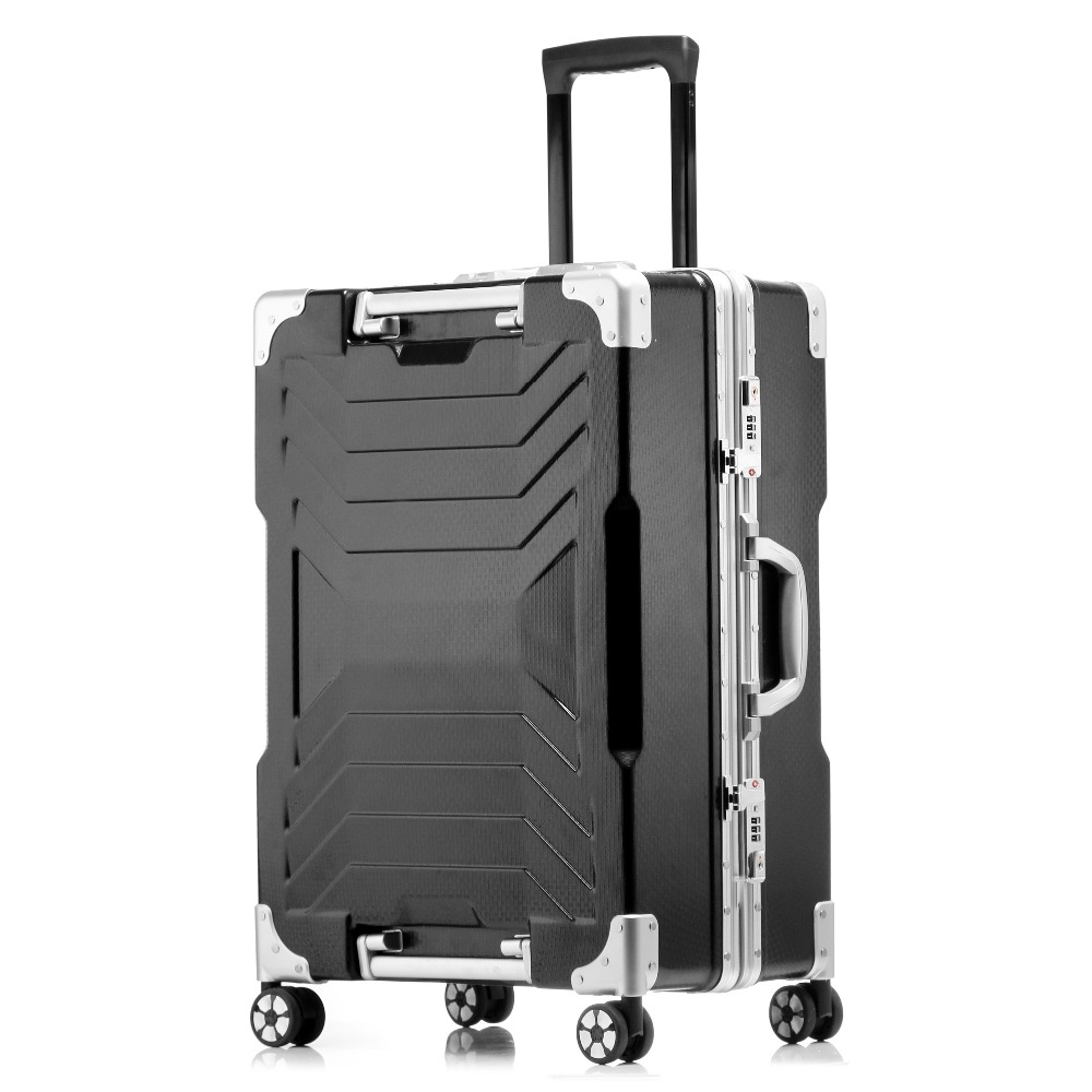 Factory stock travel luggage aluminum luggage aluminum suitcase