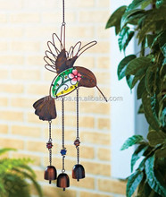 Hummingbird Glass Wind Bells