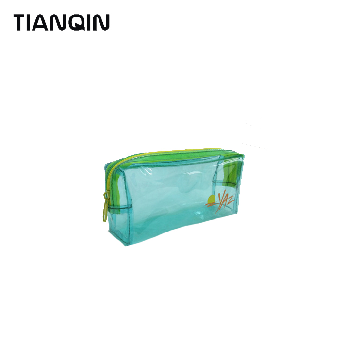 Clear Low Cost Mini Cosmetic Bag Makeup Case Toiletry Zipper Wash Bag For Storage