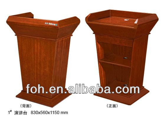 Wooden church podium stand/ lecturer podium(FOHK-1)