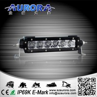 "6"" single row led light bar led light atv 250cc"