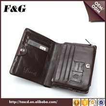 Promotional Real Cow Leather Smart Trifold Wallet For Men