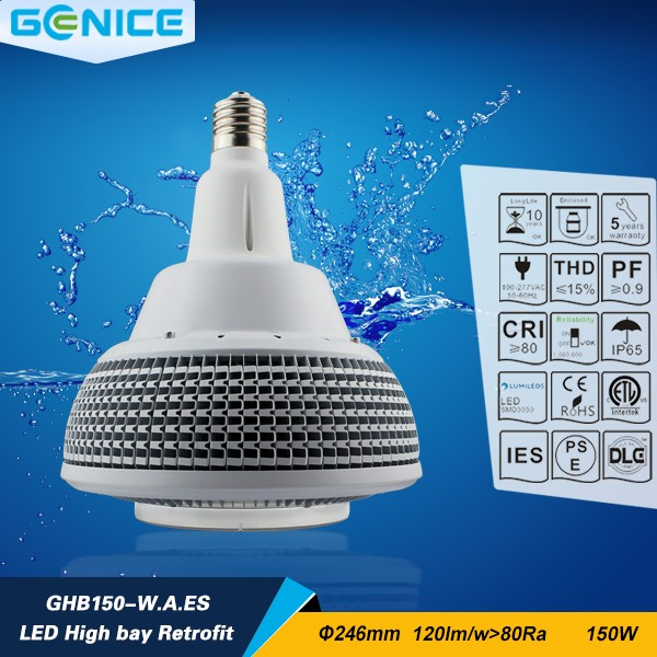 New style industrial 150w retrofit led high bay, led high bay retrofit 150 w e40 5000 <strong>k</strong> 18000 lm for coliseum