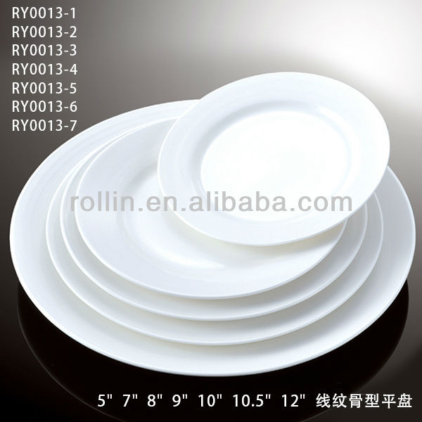 Wholesale cheap hotel restaurant white cameric round plate porcelain hotel crockery