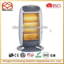 1600W 4 Bar Halogen Home Heater Electric