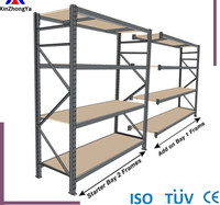 Portable longspan metal shelves for warehouses