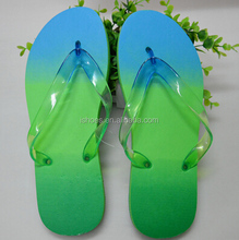 New design fashion gradient summer rubber fancy women slippers
