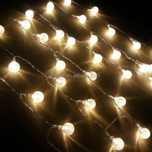 Battery Operated 40 LED String Light with Crystal Ball Covers Garden HNL010