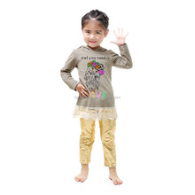 Chines supplier wholesale two pieces animal design baby clothes