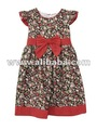 New baby girl dresses cap sleeve floral print dress