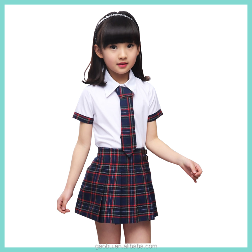 Wholesale Beautiful School Uniform Design Skirt