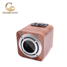 2018 Hot Sale Wireless Bluetooth Wooden Speaker HiFi Stereo Sound System Subwoofer Music Player with FM Radio
