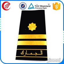 High quality custom shoulder epaulets military uniform 2016 captain epaulette