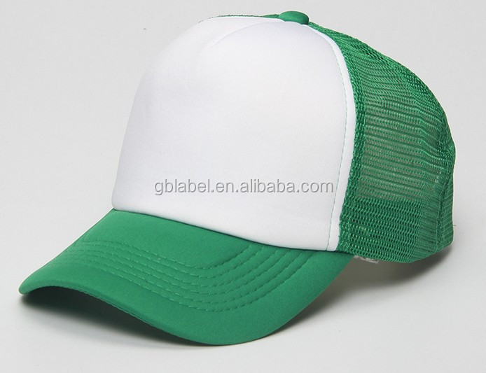 cheap wholesale green mesh plastic backing truck cap