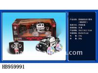 4 channel rc pickup police car,transparent wheels with lights rc educational children rc car