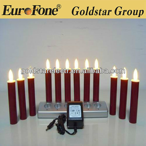 red color remote control rechargeable led candle