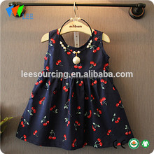 Factory price modern girls dresses cotton kids party dresses 3-5 year old girl dress