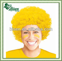 2013 Football Fans Wig,cheap colorful party hair wig ,afro sport wig CE certificate BSHW-3428