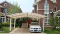 High wind pressure carport snow load strong aluminum car parking canopy with metal frame