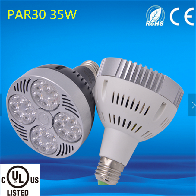 UL Listed E27 E26 dimmable led interior spotlights 35W 45W 60W 3 Years Warranty PAR30 Spotlight for track light