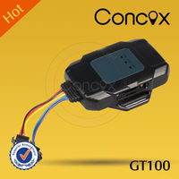 Concox mini waterproof gps tracker GT100 with long standby time and geo-fenc alarm function