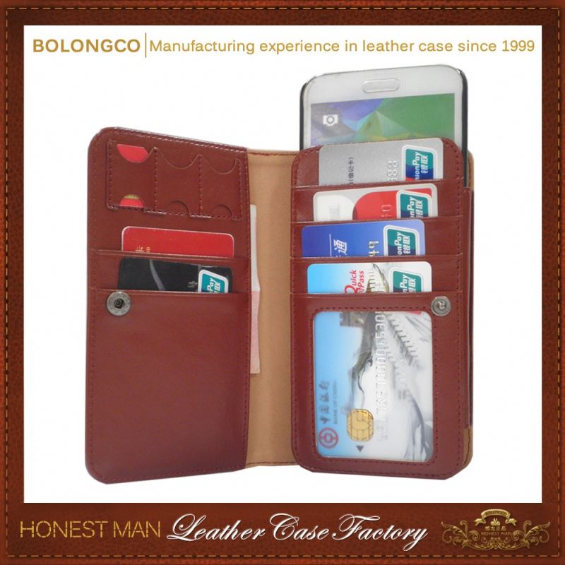 High Quality Simple Style For Samsung S5 Wallet Case