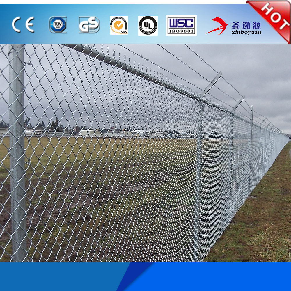 Hot dipped galvanized 9 gauge chain link fence from China
