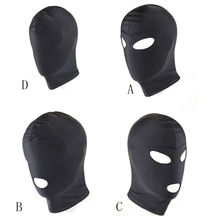 BDSM Fetish Mask Hood Sexy Toys Open Mouth Eye Bondage Party Mask Cosplay Slave Punish Headgear Adult Game Sex Products