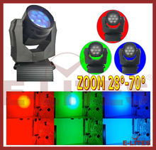 cheap ZOOM&Wash led moving head light,7*20W RGB 3in1 color mixing rotation moving show light