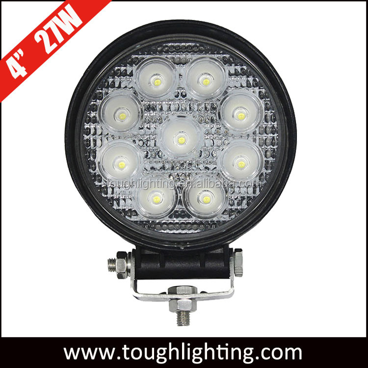 EMC approved 27W 12v led tractor work light for agricultural machinery