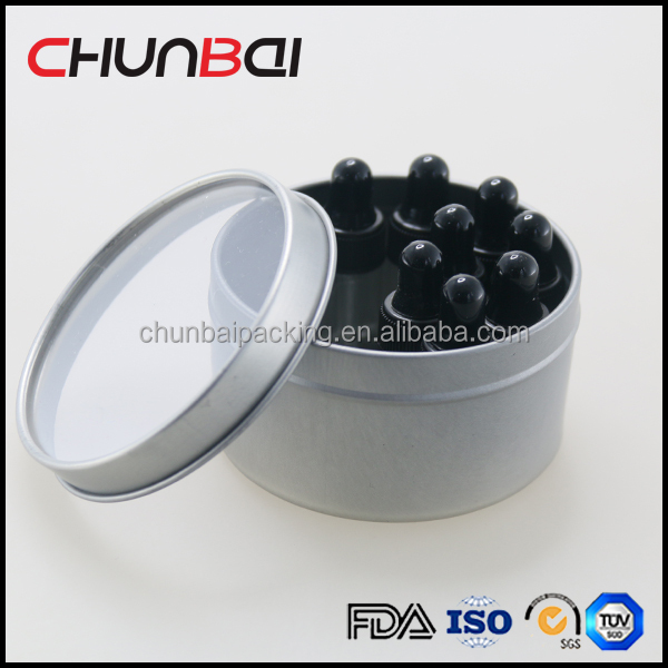 Wholesale Round Aluminium Gift Tube Box For Glass Vails