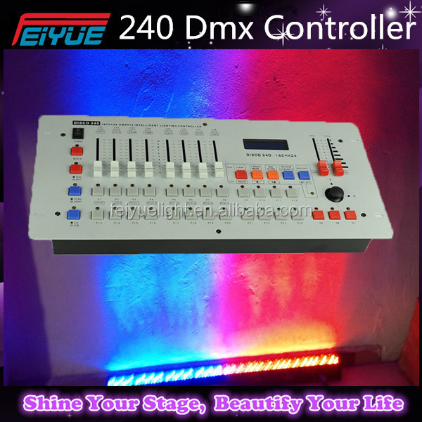 Best Price 240 DMX Controller,Disco 240 DMX Console,240DMX Channel Computer Console Box Packing 90V-240V Stage Light Controller