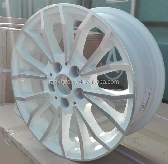 14 inch high profile white car alloy wheel
