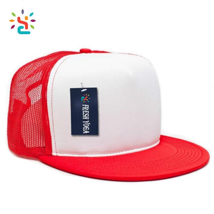 Red Foam Mesh Snapback Cap Flat Brim Mesh Baby Trucker Cap Hats Blank  Wholesale 6b78b377b0c
