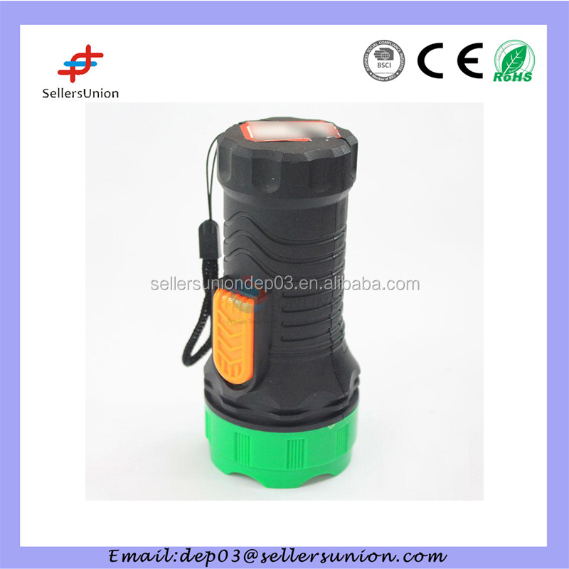 Portable Plastic Bright Camping Led Flashlight Battery Powered Torch