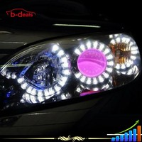 B-Deals wholesale price 80mm 85mm 90mm 100mm 120mm led smd lotus angel eyes for all cars projector lens