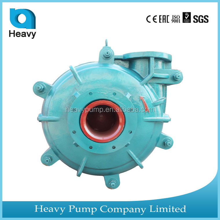 anti-abrasive slurry pump machine sludge transfered gravel rubber pump with spare parts