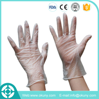 Clear powder free disposable vinyl surgical glove prices