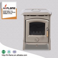 HiFlame high quality cast iron door indoor enamel wood burning stove for 800sq.ft room HF905UCE