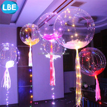 PVC material flashing ourdoor floating helium lighting balloon led