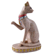 Lovely stone abstract granite animal egyptian mau cat sculpture
