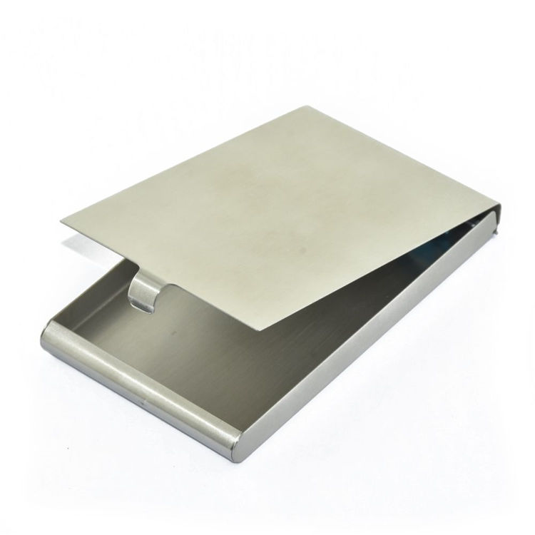 Premium luxury front portable rfid blocking steel business name card holder+business card holder case metal