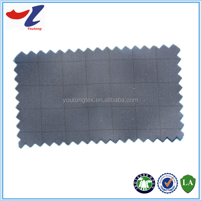 coating PVC/PA/PU anti-static plaid taffeta fabric