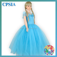 Turquoise Butterfly Crochet Tulle Kids Princess Wedding Dresses One Piece Girls Party Dresses For Girls
